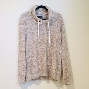 Express Pullover Sweater Size Large Heather brown